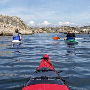 kayak, paddeln, schweden westküste, 2001