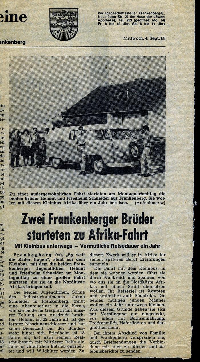 frankenberger allgemeine 4.9.1968