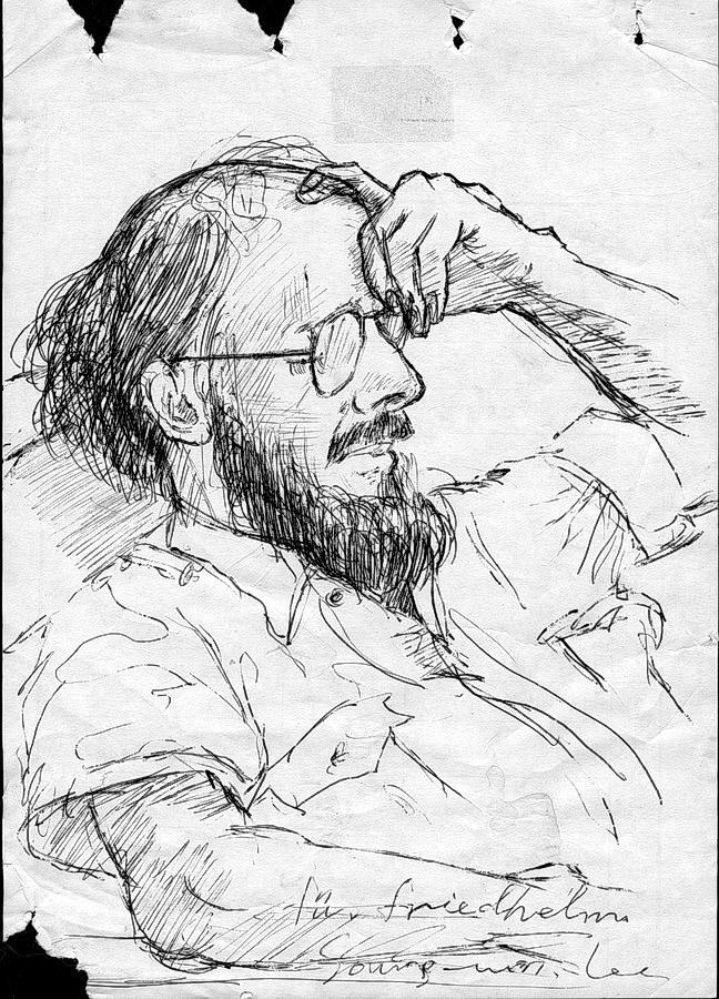 porträt von song won lee, kong-ju, südkorea 1991