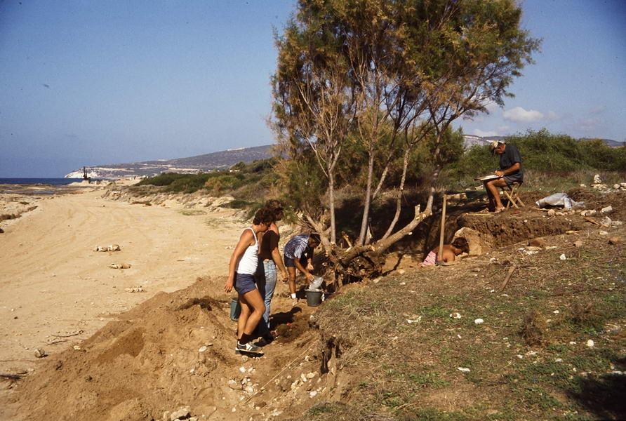 israel 1979, akhziv, phönizischer friedhof