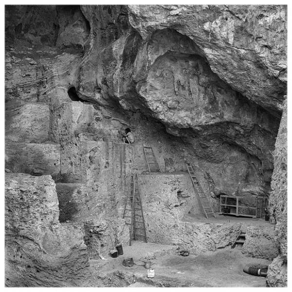 israel, carmelhöhlen, tabun