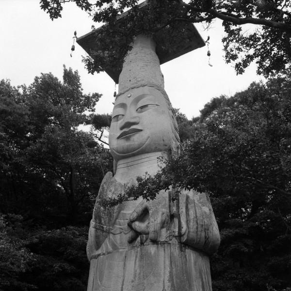 Kwan-Chok-Sa tempel,  steinbuddha, südkorea 1991