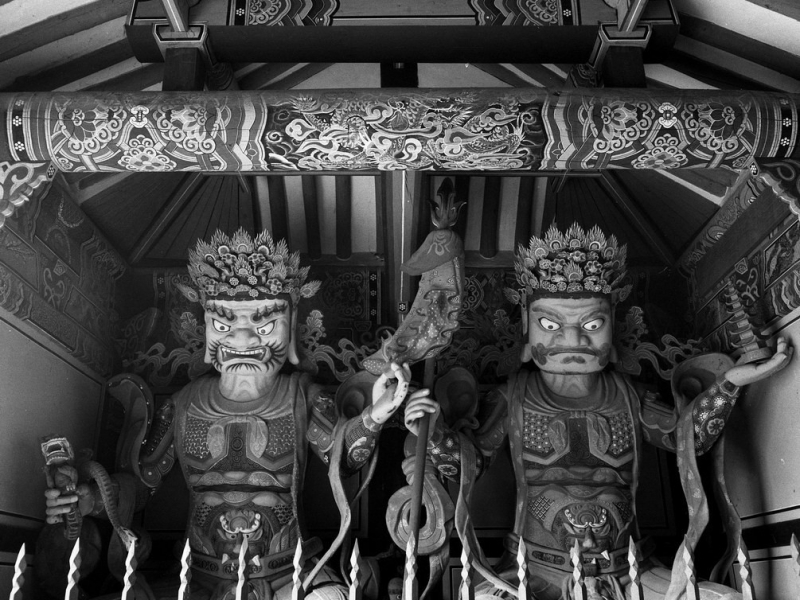 Kwan-Chok-Sa tempel,  torwächter, südkorea 1991