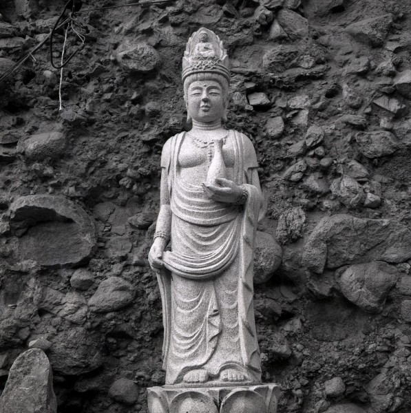 maisan nationalpark, tapsa-tempel, buddha, südkorea 1991