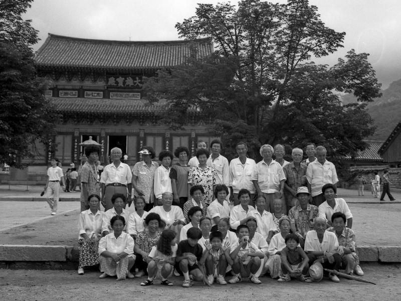 Beopjusa Temple, gruppenfoto, südkorea, 1991