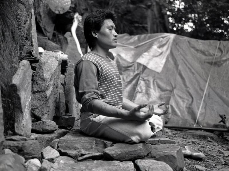 eremit, ososan, ausflug mit song-won u.a., südkorea 1991
