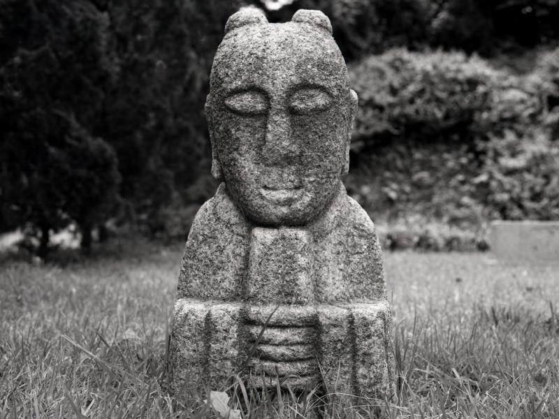 steinskulptur, kong-ju, südkorea 1991