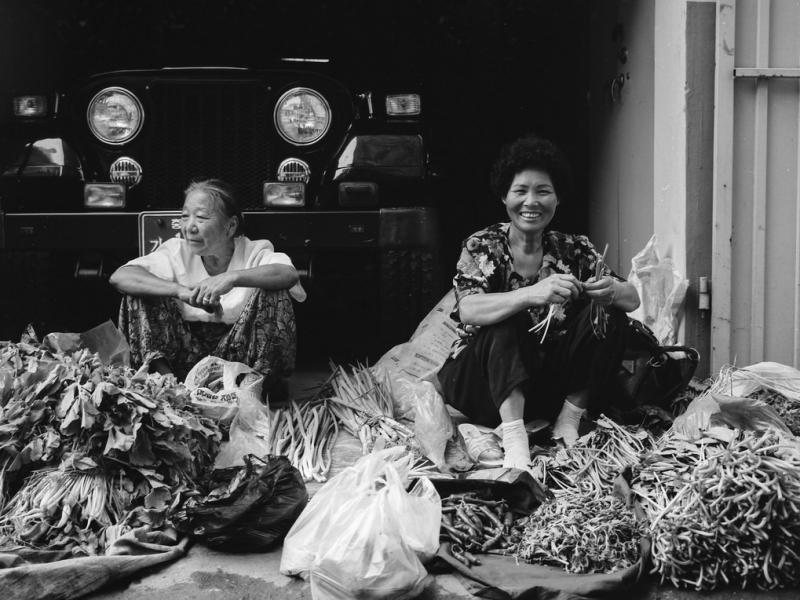 marktfrauen, kong-ju, südkorea 1991