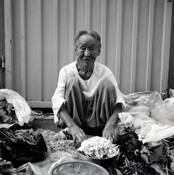 marktfrau, kong-ju, südkorea 1991