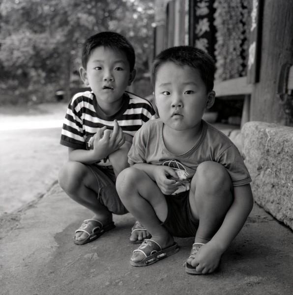 tempelkinder, kong-ju, südkorea 1991