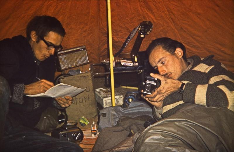 zelten beim stausee bin el ouidane, marokko 1969