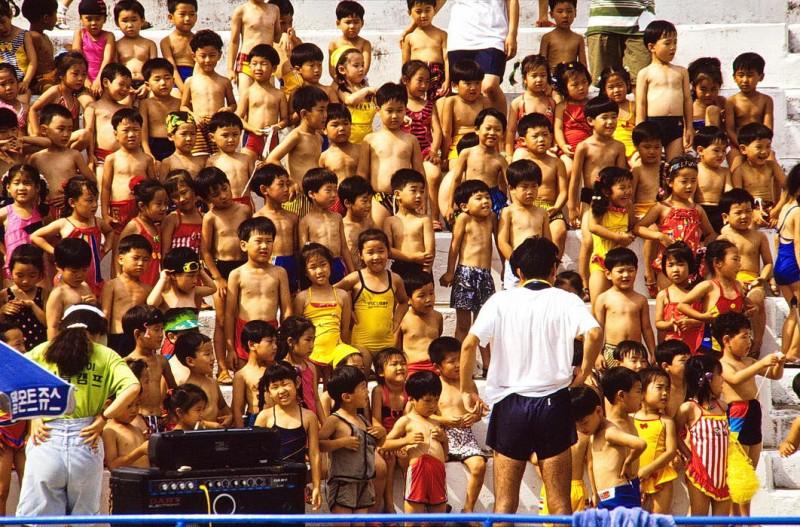 südkorea 1991, puyo, schulkinder