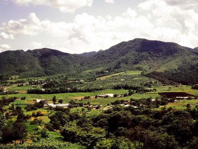 auf dem weg zum provincial park mount taedun, südkorea 1991, mit jo-guk im