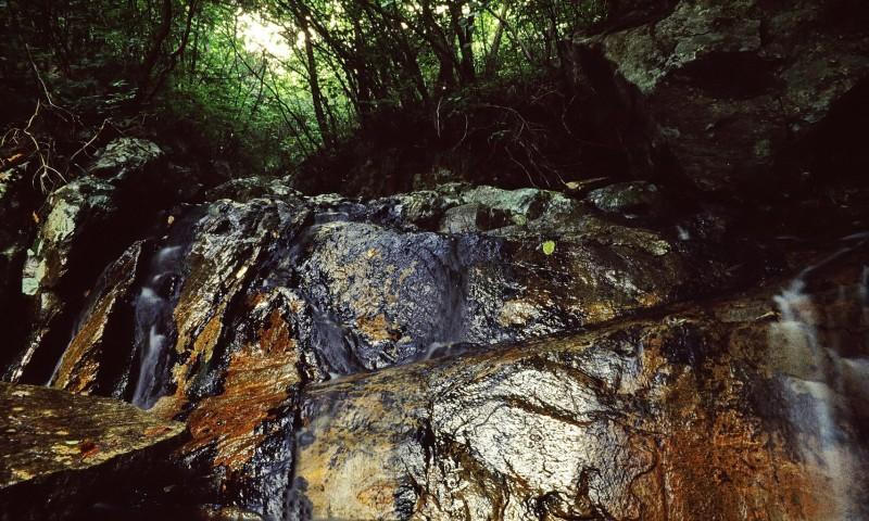 wildbach, ososan, ausflug mit song-won lee u.a., südkorea 1991