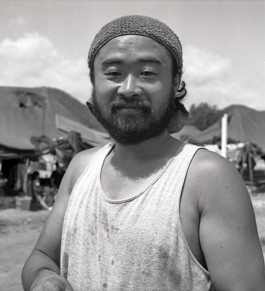 akatsuki harada, natur und kunst-symposion, kongju, südkorea 1991