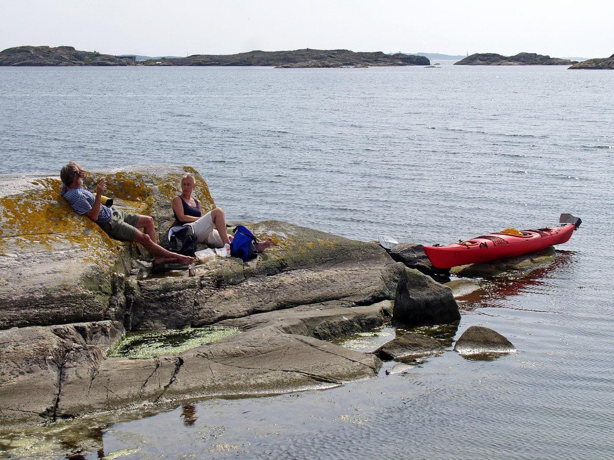 kajak, paddeln, schweden westküste, 2001