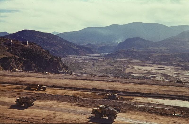 barrage ait addel im bau, hoher atlas, marokko 1968