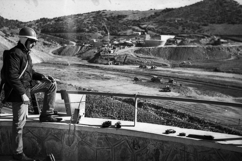 barrage ait addel, hoher atlas, marokko 1969