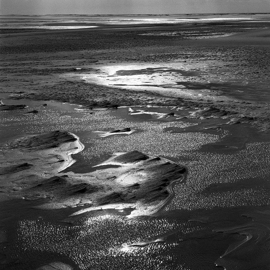 am meer, amrum, watt, 2003, schwarz-weiß