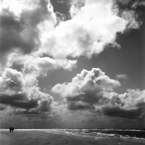 am meer, amrum 2003, schwarz-weiß
