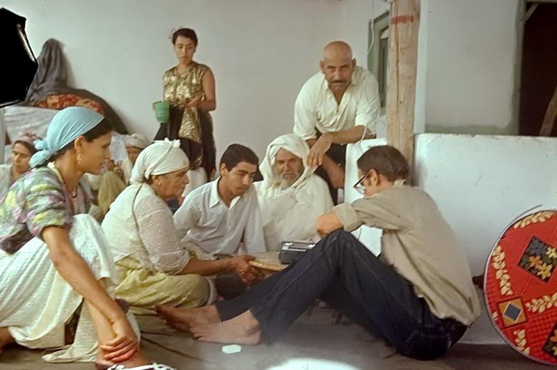 abderrahman + helmut haben eine tonbandaufnahme geschickt, casablanca 1969