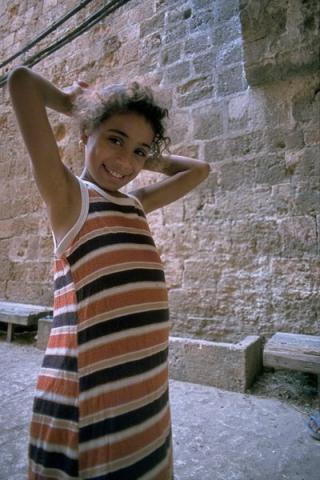 akko, kinder in der altstadt, israel 1978