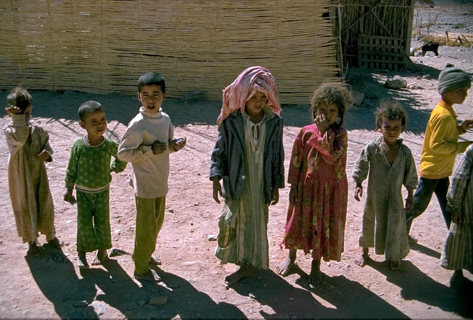 beduinenkinder im sinai, israel 1978