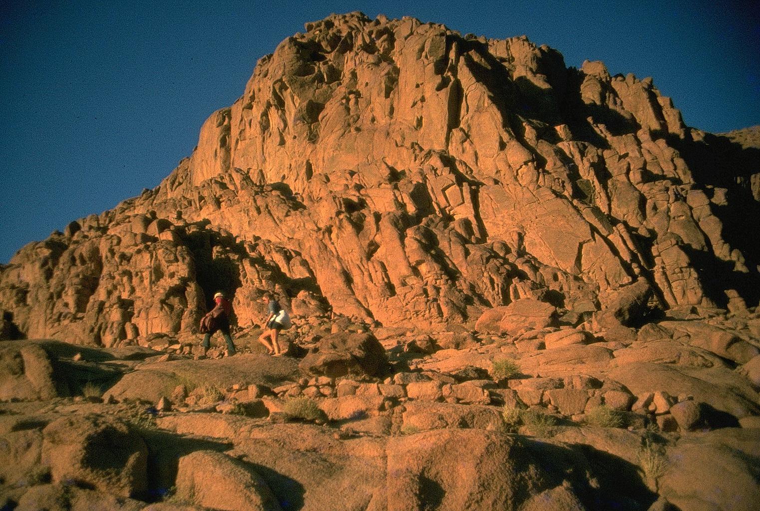 aufstieg zum berg moses, sinai, 1978