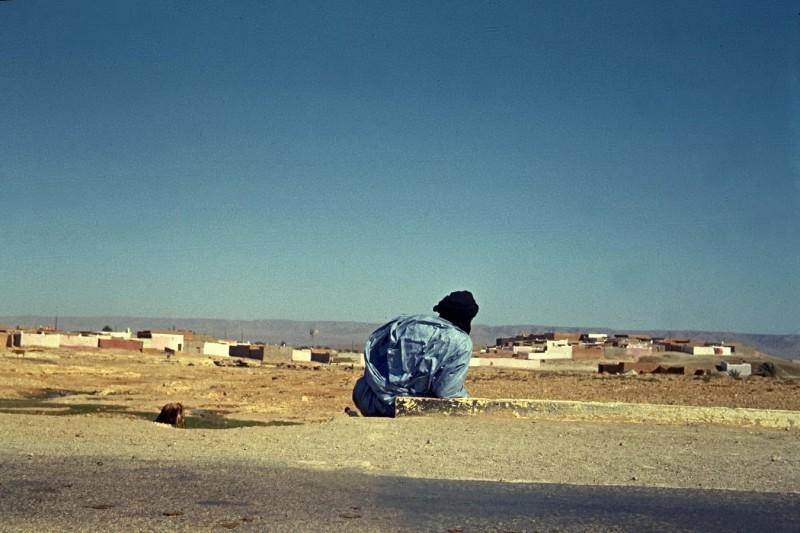 von casablanca per anhalter nach tan tan (ca 800km), im land der blauen männer, bei goulimine,1969