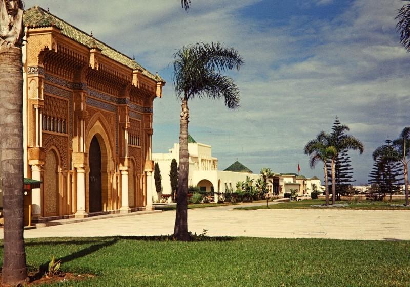 königspalast, rabat, marokko, 1968