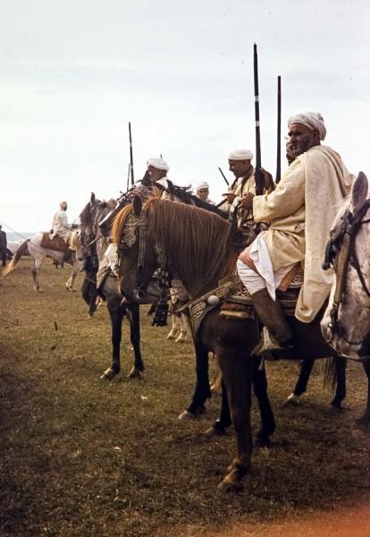 fantasia, souk sebt bei rabat, marokko 1969