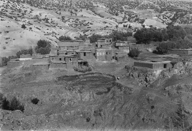 berbersiedlung, hoher atlas, marokko 1968