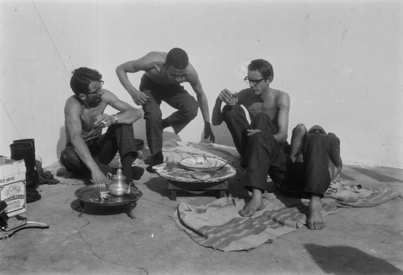 helmut, abderrahman, friedhelm, ahmed, casablanca, marokko 1969