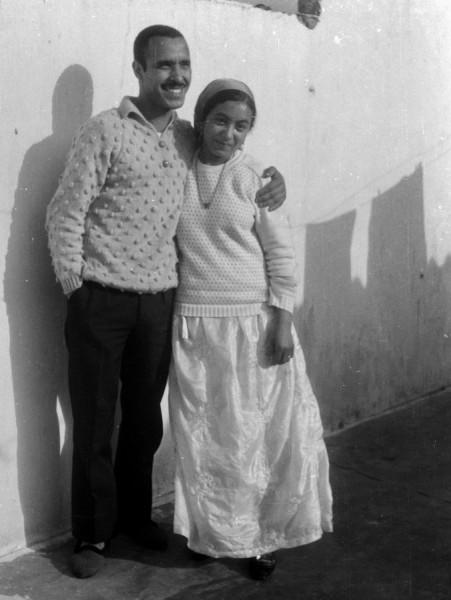 ahmed und fatna, casablanca, marokko, 1968