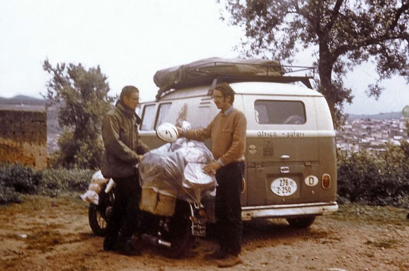 friedhelm + helmut, abschied in fez, 28.4.1969