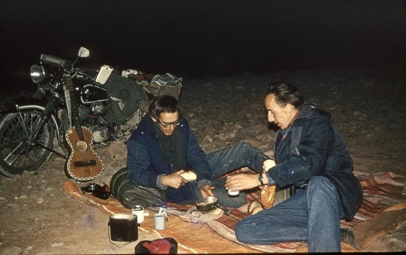 nachtlager im großen süden, marokko 1969