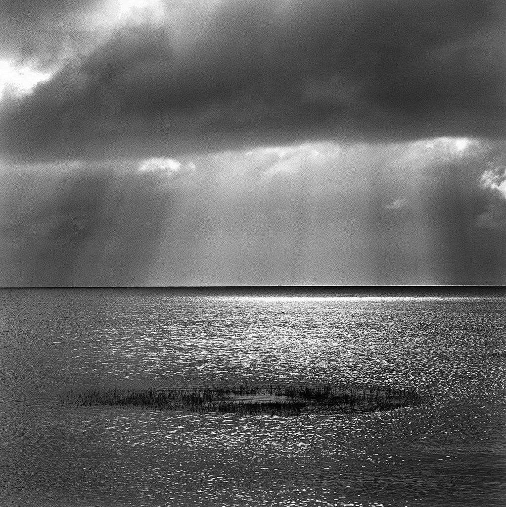 am meer, amrum, watt, flut, 2003, schwarz-weiß
