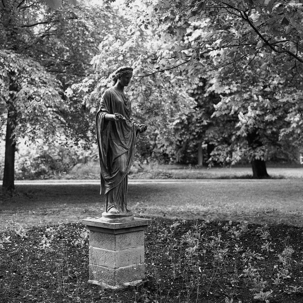 eutin, schloßgarten, flora-statue, 1997