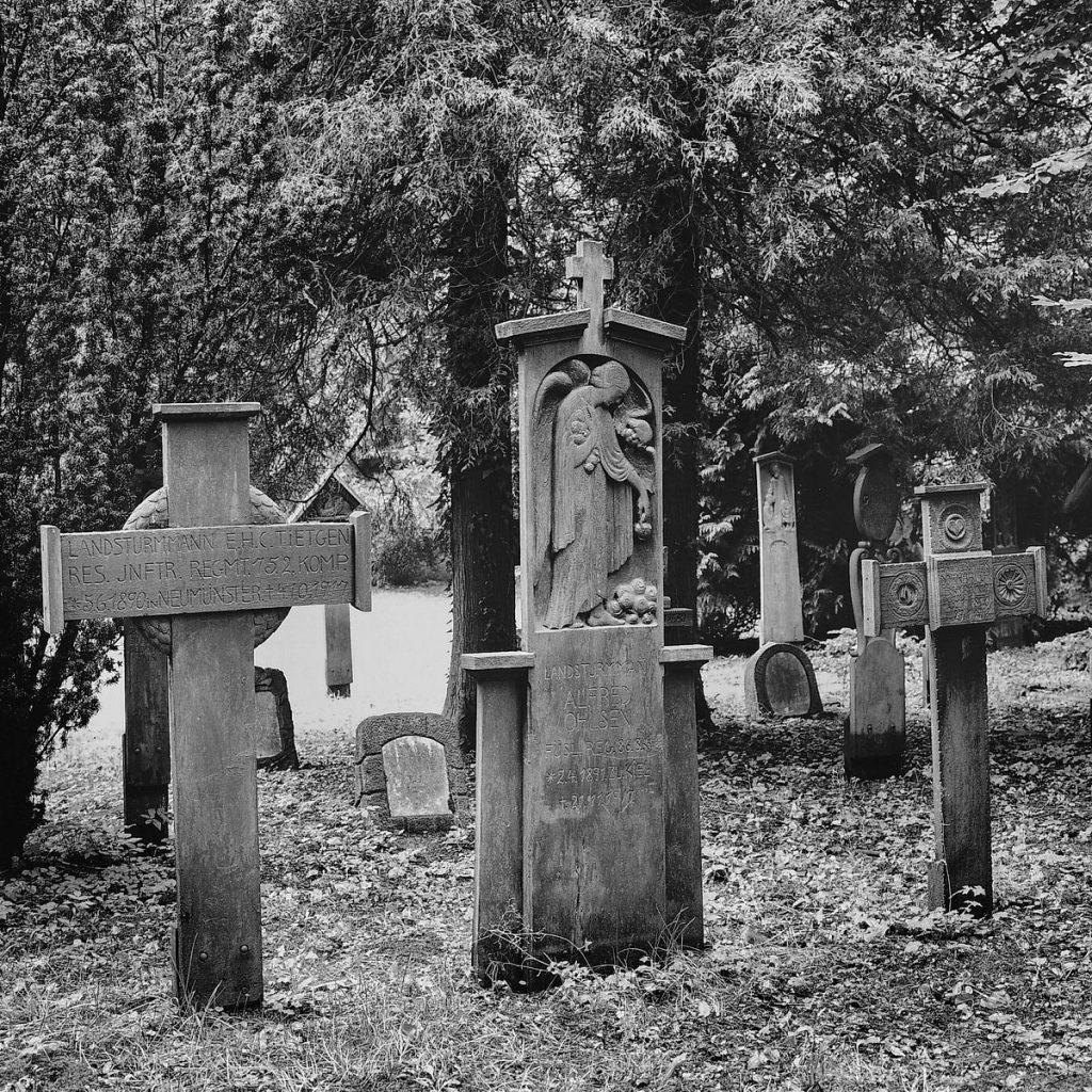 schleswig, flenbsburger straße,  garnisonsfriedhof, 1995
